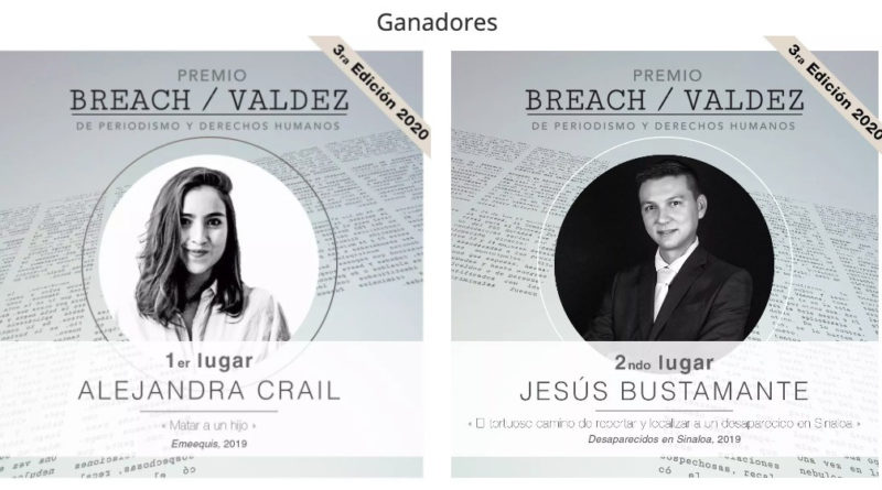 El Premio Breach / Valdez de Periodismo y Derechos Humanos 2020 va a los periodistas mexicanos Alejandra Crail y Jesús Bustamante
